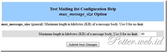 setting ukuran lampiran file milist email