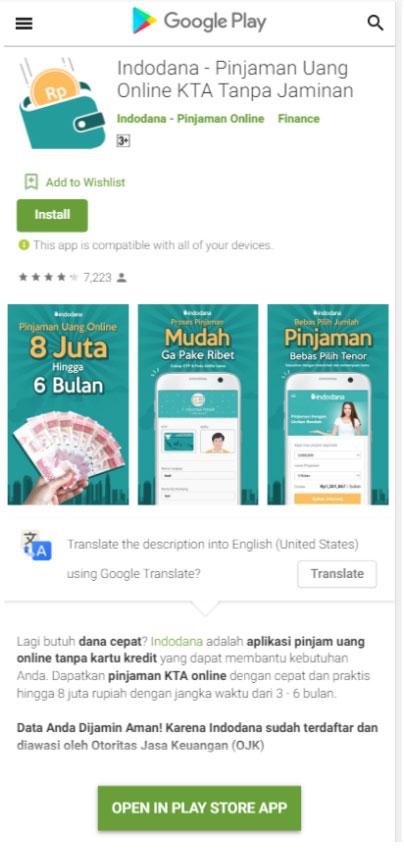 Ini Dia Perbandingan Aplikasi Indodana Dengan Aplikasi Pinjaman Dana Sejenis